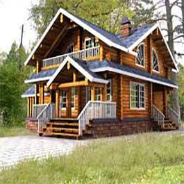 خانه چوبی در اردبیل با چوب روسی